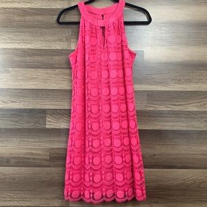 Muse Hot Pink Sleeveless Dress Size 6